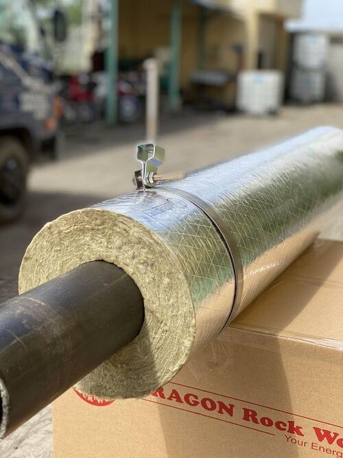 ống cách nhiệt rockwool có bạc
