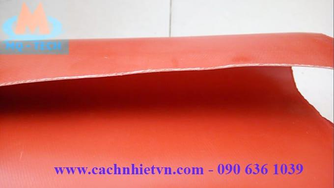 vải silicon chịu nhiệt màu đỏ