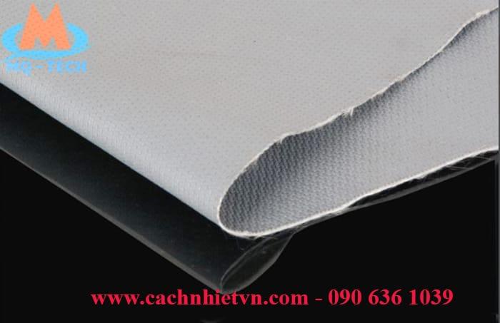 Vải silicone chống cháy màu xám
