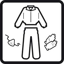 mặc đồ bảo hộ khi thi công